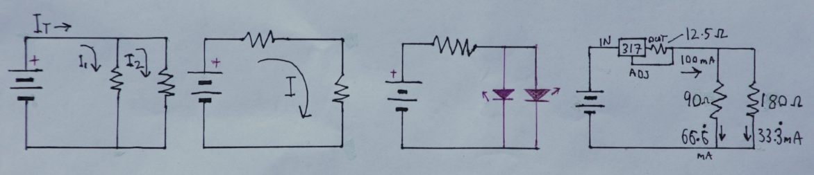 Four simple circuits